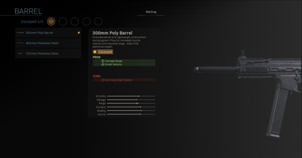 Warzone | 300mm Poly Barrel - Barrel Stats | Call of Duty Modern Warfare - GameWith