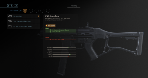 【Warzone】FSS Guardian - Stock Stats【Call of Duty Modern Warfare】 - GameWith
