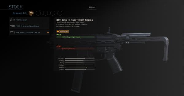 【Warzone】XRK Gen III Survivalist Series - Stock Stats【Call of Duty Modern Warfare】 - GameWith