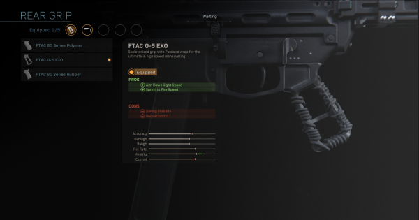 【Warzone】FTAC G-5 EXO - Rear Grip Stats【Call of Duty Modern Warfare】 - GameWith