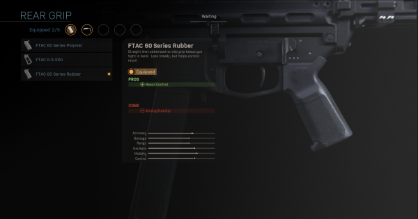 Warzone | FTAC 60 Series Rubber - Rear Grip Stats | Call of Duty Modern Warfare - GameWith