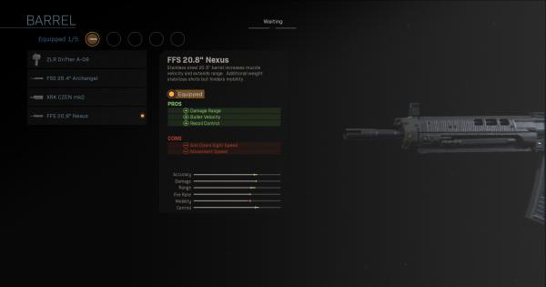 """【Warzone】FFS 20.8"""" Nexus - Barrel Stats【Call of Duty Modern Warfare】 - GameWith"""
