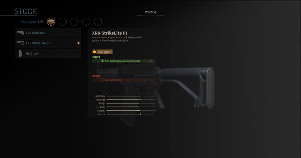 Warzone | XRK StrikeLite III - Stock Stats | Call of Duty Modern Warfare - GameWith