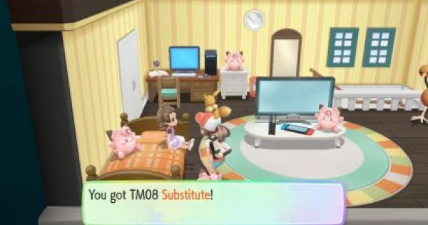 Pokemon Let's Go | Substitute (TM 08) : Move Stats, Pokemon & Where to Get | Pikachu / Eevee - GameWith