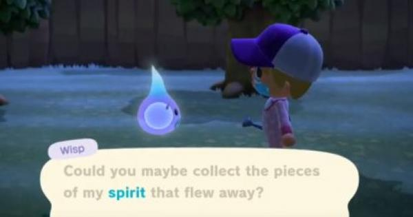 Acnh Wisp Ghost Rewards Pieces Animal Crossing New
