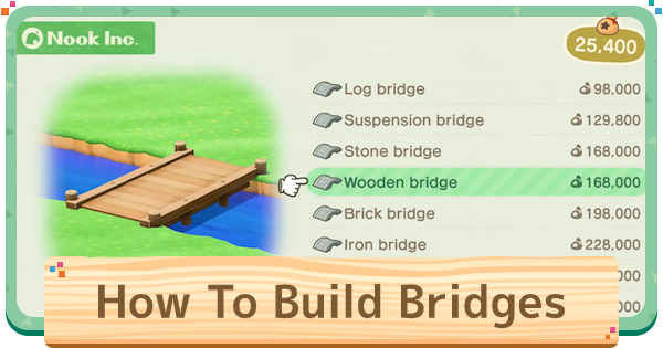 ACNH | Bridges - How To Build & Make | Animal Crossing - GameWith