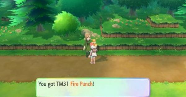 Pokemon Let's Go | Fire Punch (TM 31) : Move Stats, Pokemon & Where to Get | Pikachu / Eevee - GameWith