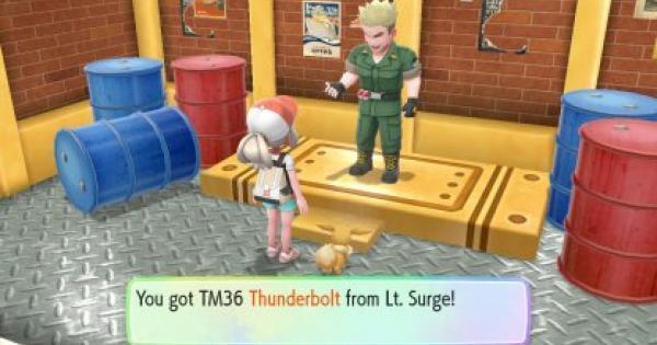 Pokemon Let's Go | Thunderbolt (TM 36) : Move Stats, Pokemon & Where to Get