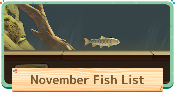 ACNH | November - Fish List | Animal Crossing - GameWith