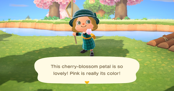 ACNH | Cherry Blossom Petals (Sakura) - How To Get | Animal Crossing - GameWith