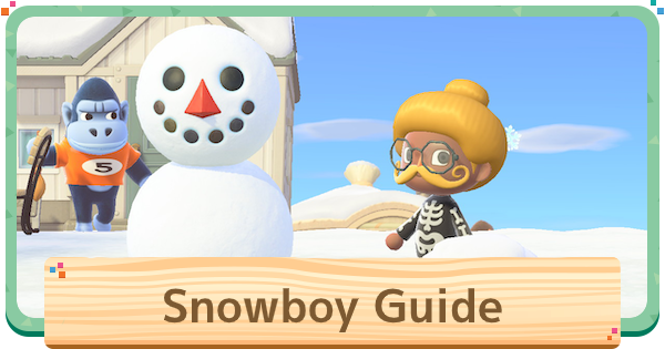 ACNH | Snowman (Snowboy) - How To Make Perfect Snowman & DIY Recipes | Animal Crossing - GameWith