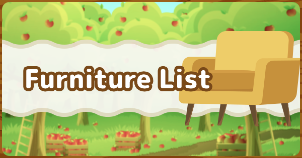 Animal Crossing All Furniture List Acnh Gamewith