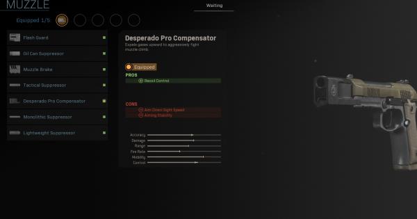 【Warzone】Desperado Pro Compensator - Muzzle Stats【Call of Duty Modern Warfare】 - GameWith