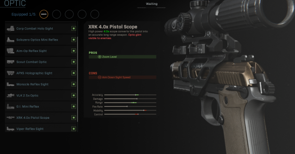 【Warzone】XRK 4.0x Pistol Scope - Optic Stats【Call of Duty Modern Warfare】 - GameWith