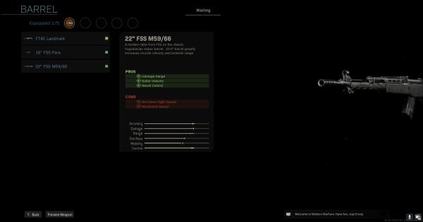"【Warzone】22"" FSS M59/66 - Barrel Stats【Call of Duty Modern Warfare】 - GameWith"
