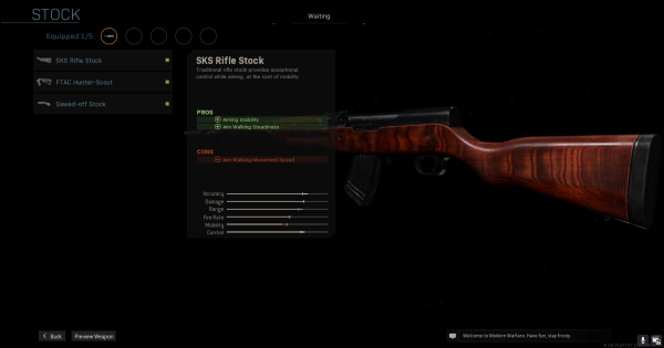 Warzone | SKS Rifle Stock - Stock Stats | Call of Duty Modern Warfare - GameWith