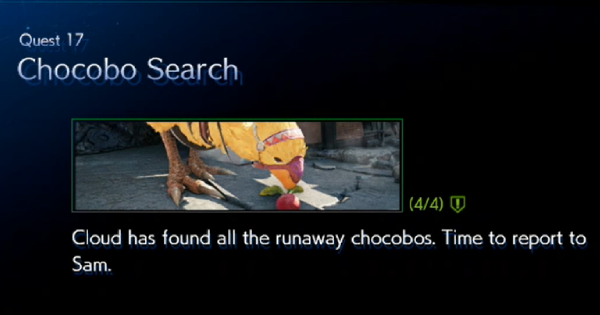 FF7 Remake | Quest 17: Chocobo Search Guide | Final Fantasy 7 Remake - GameWith