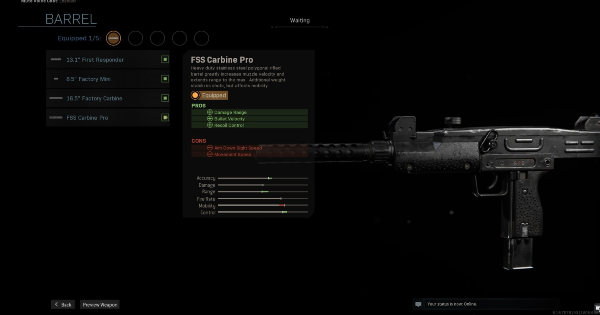 【Warzone】FSS Carbine Pro - Barrel Stats【Call of Duty Modern Warfare】 - GameWith