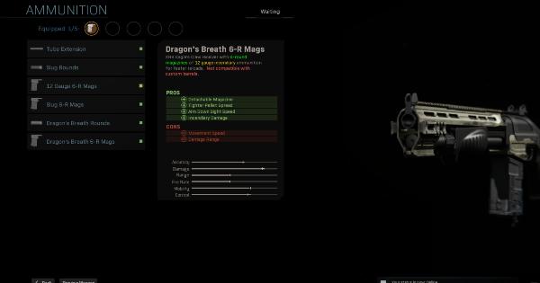 Warzone   Dragon's Breath 6-R Mags - Magazine Stats   Call of Duty Modern Warfare - GameWith