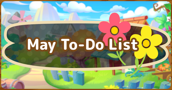 ACNH | May To-Do List & Events | Animal Crossing - GameWith