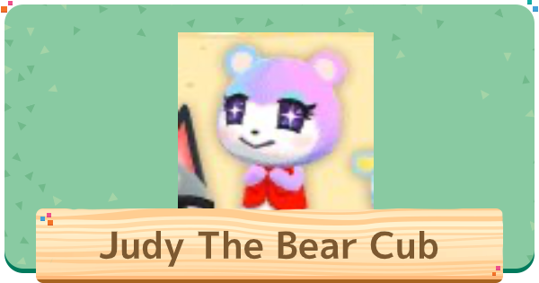 ACNH | Judy The Bear Cub Villager - Basic Info & Personality | Animal Crossing - GameWith