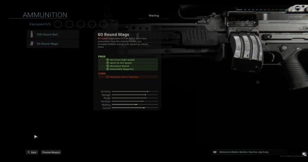 Warzone | 60 Round Mags (Bruen Mk9) - Magazine Stats | Call of Duty Modern Warfare - GameWith