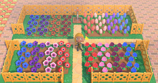 【Animal Crossing】Flower Field Ideas - How To Make A Flower Bed【ACNH】 - GameWith
