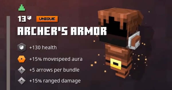 Archer's Armor | Minecraft Dungeons - GameWith