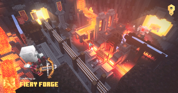 Fiery Forge - Secret Rune Location & Walkthrough | Minecraft Dungeons - GameWith