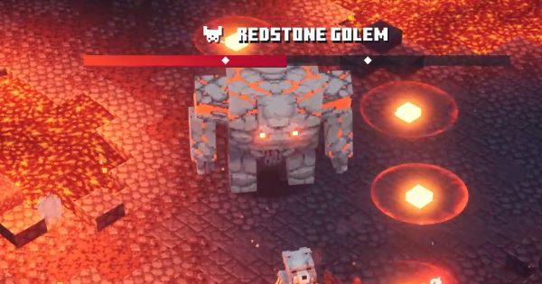 Minecraft Dungeons | Redstone Golem - Boss Guide & How To Beat - GameWith