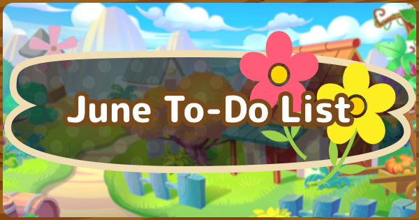 June To-Do List & Events