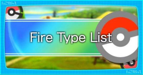 Pokemon Let's Go | All Fire Type Pokemon List & Base Stats