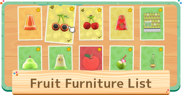 【Animal Crossing】Fruit Furniture Set - Full List【ACNH】 - GameWith
