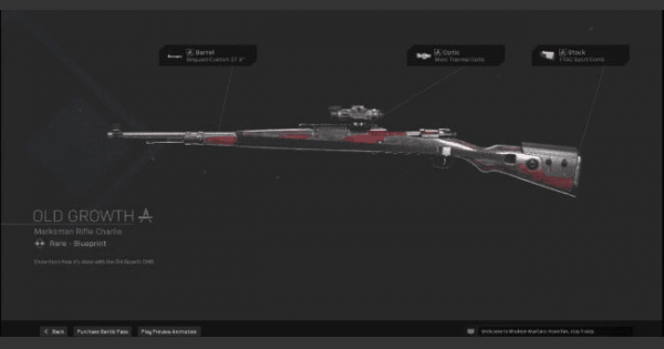 Warzone   Old Growth Marksman Rifle  Blueprint - Stats & How To Get   Call of Duty Modern Warfare - GameWith