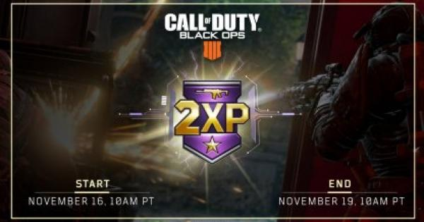 【CoD: BO4】Nov. 16 - Update Summary: 2X Weapon XP Weekend【Call of Duty: Black Ops 4】 - GameWith