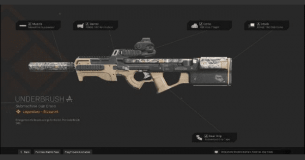 Warzone   Underbrush SMG  Blueprint - Stats & How To Get   Call of Duty Modern Warfare - GameWith