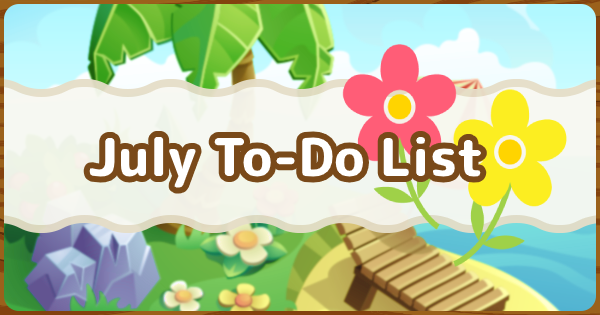ACNH | July To-Do List & Events | Animal Crossing - GameWith