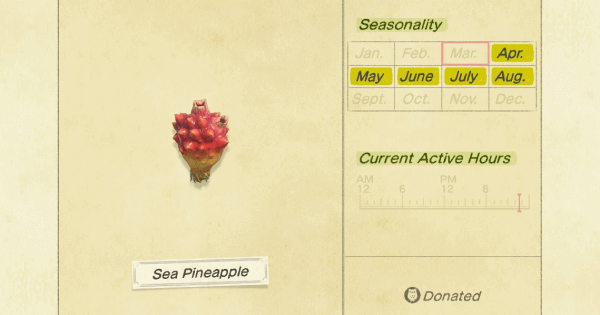 ACNH | Sea Pineapple - How To Catch & Price | Animal Crossing - GameWith