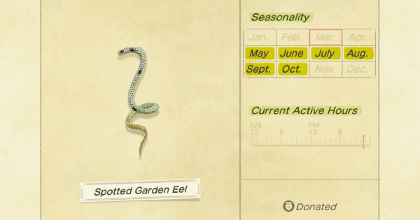 ACNH | Spotted Garden Eel - How To Catch & Price | Animal Crossing - GameWith