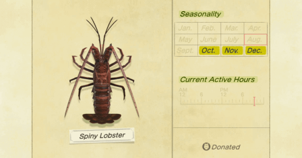 ACNH | Spiny Lobster - How To Catch & Price | Animal Crossing - GameWith