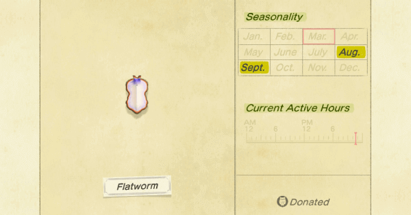 Acnh Flatworm How To Catch Price Animal Crossing Gamewith