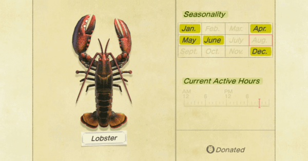 ACNH | Lobster - How To Catch & Price | Animal Crossing - GameWith