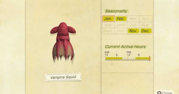ACNH | Vampire Squid - How To Catch & Price | Animal Crossing - GameWith