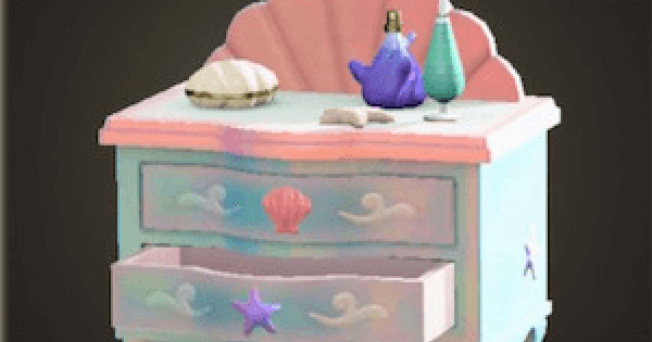 ACNH | Mermaid Dresser - How To Get DIY Recipe & Required Materials | Animal Crossing - GameWith