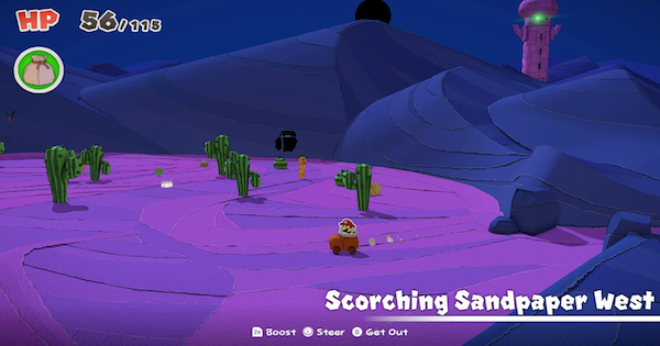 Scorching Sandpaper West | Paper Mario: Toads & Collectible Treasures | Origami King - GameWith