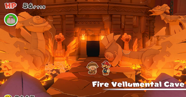 Fire Vellumental Cave - Paper Mario | Toads & Collectible Treasures | Origami King - GameWith