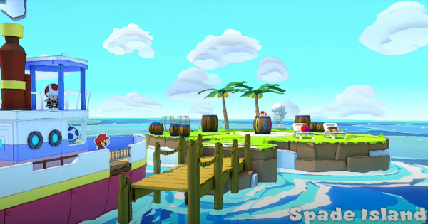 Spade Island - Paper Mario | Toads & Collectible Treasures | Origami King - GameWith