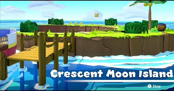 Crescent Moon Island | Toads & Collectible Treasures | Origami King - GameWith