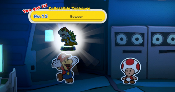 Paper Mario | Collectible Treasure 15 Bowser - How To Get | Origami King - GameWith