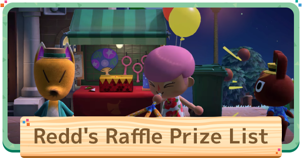 Redd's Raffle - Prize List & Rewards | Animal Crossing (ACNH) - GameWith
